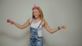 Dansing dziecko Ruch mody dziewczyny studia strzał zbiory