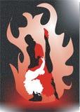 Dansing Feuer stock abbildung