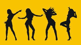 Dansing girls. Abstract vector illustration of dancing girls Royalty Free Stock Images