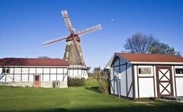 dansk älghornwindmill Royaltyfri Bild