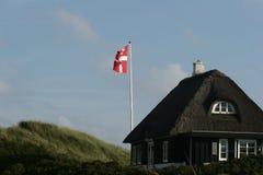 dansk flagga Royaltyfri Foto