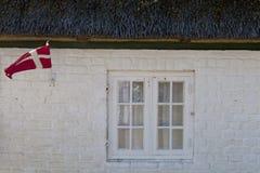 dansk flagga Royaltyfria Bilder