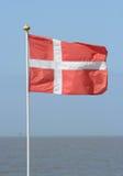 dansk flagga Royaltyfri Fotografi