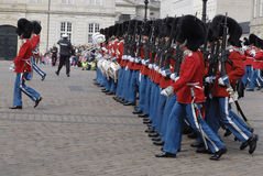 dansk guardslivstidsdrottning Royaltyfri Fotografi