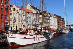 Dansk hamnplats på Köpenhamnen Arkivfoto