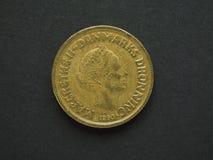 Dansk Krone 20 & x28; DKK& x29; mynt Fotografering för Bildbyråer