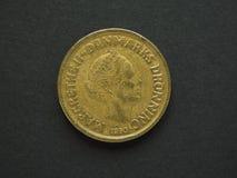Dansk Krone 20 & x28; DKK& x29; mynt Arkivfoton