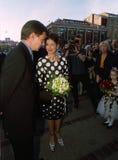 DANSK KUNGAFAMILJENBESÖKTIVOLI TRÄDGÅRD royaltyfria foton