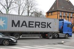 DANSK MAERSK-SÄNDNINGSLINJE BEHÅLLARE Royaltyfri Bild