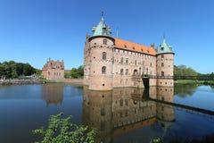 Dansk medeltida slott Royaltyfria Bilder