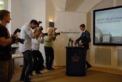 DANSK MINISTER FÖR PHOTOJOURNALIST COER Arkivbild