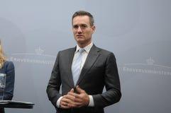 DANSK MINISTER FÖR RASMUS JARLOV FÖR HANDEL OCH AFFÄR arkivbilder