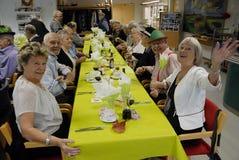 DANSK PENSIONÄR PÅ DET HÖGA PARTIET Fotografering för Bildbyråer