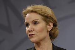 Dansk PM för Ms.Helle Thorning Schmidt Fotografering för Bildbyråer