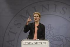 Dansk PM för Ms.Helle Thorning Schmidt Arkivbilder