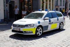 Dansk polisbil arkivfoto