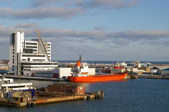 dansk seaport Royaltyfria Bilder