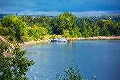 danska ölakes landscape litet tidvattens- wild wadden för naturhavet vatten FlodBerden, Novosibirsk oblast, Sibirien Fotografering för Bildbyråer