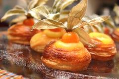 Danska bageriprodukter från ett bageri Royaltyfria Foton
