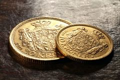 Danska guld- mynt Royaltyfri Fotografi