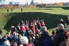 Danska historiska Militar ståtar Arkivfoto