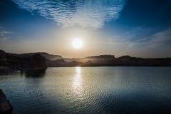 danska ölakes landscape litet tidvattens- wild wadden för naturhavet vatten Royaltyfria Bilder