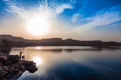danska ölakes landscape litet tidvattens- wild wadden för naturhavet vatten Arkivbilder