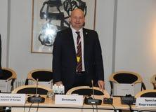 DANSKA VÄRDAR FÖR RÄTTVISA MINISTER_ SOREN PEPE POULSEN Royaltyfri Foto