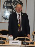 DANSKA VÄRDAR FÖR RÄTTVISA MINISTER_ SOREN PEPE POULSEN Royaltyfri Fotografi