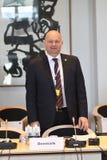 DANSKA VÄRDAR FÖR RÄTTVISA MINISTER_ SOREN PEPE POULSEN fotografering för bildbyråer