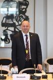 DANSKA VÄRDAR FÖR RÄTTVISA MINISTER_ SOREN PEPE POULSEN arkivbilder
