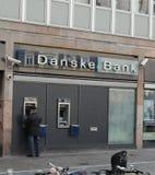 DANSKE BANK FICK RÖRA MED PENGAR LAUNDERY arkivbild
