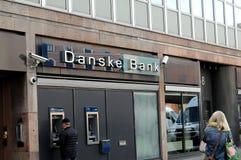 DANSKE BANK FICK RÖRA MED PENGAR LAUNDERY fotografering för bildbyråer