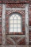 danskt fönster Arkivbild