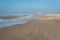 Danskt livräddaretorn på den Tversted stranden Royaltyfria Foton