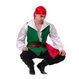 Dansman som bär en piratkopieradräkt Isolerat på Royaltyfria Foton