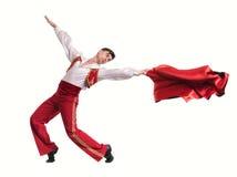 Dansman som bär en toreadordräkt isolerat Royaltyfria Foton