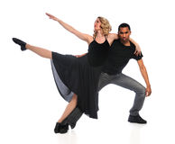 dansmankvinna Arkivbild