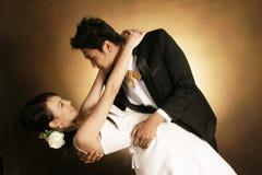 dansmodebröllop Fotografering för Bildbyråer