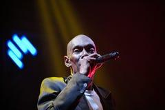 Dansmusikband som är trolös i konsert Royaltyfria Foton