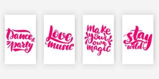 Danspartij De muziek van de liefde maak stock illustratie