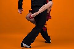 Danspartners i en posera Fotografering för Bildbyråer