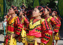 dansphilippines sjunga som är stam- Arkivbild
