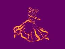 Dansskönhet tänder upp Arkivbild