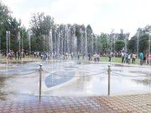 Dansspringbrunn Arkivbild