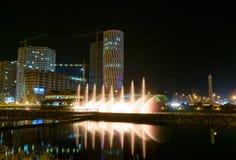 Dansspringbrunnar på Ardagani sjön Batumi georgia Royaltyfria Foton