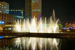 Dansspringbrunnar på Ardagani sjön Batumi georgia Arkivbilder