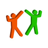 Danssymbol Plan isometrisk symbol eller logo Pictogram fo för stil 3D Arkivbild