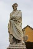 Dante雕象 免版税图库摄影