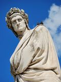 Dante. Monument to Dante Alighieri, an Italian poet of the Middle Ages. Florence, Italia Stock Photos